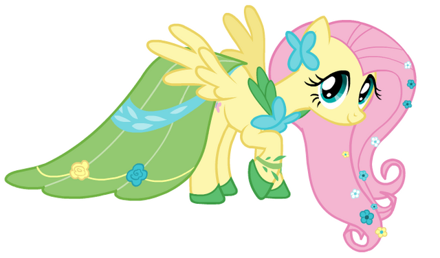 File:Fluttershy Castle Creator Gala dress.png