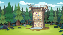 Legend of Everfree background asset - Camp Everfree rock-climbing wall