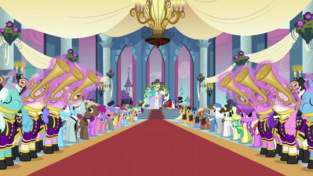 File:Ponies playing instruments wedding entrance S2E26.png