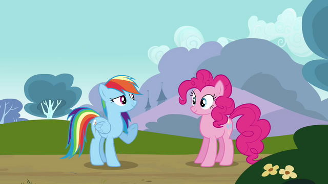 File:Rainbow flies in front of Pinkie S3E3.png
