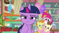 Pinkie holding Pound and Pumpkin behind Twilight S5E19.png