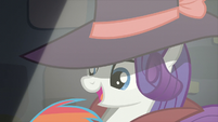 Rarity tells Rainbow to call down S5E15