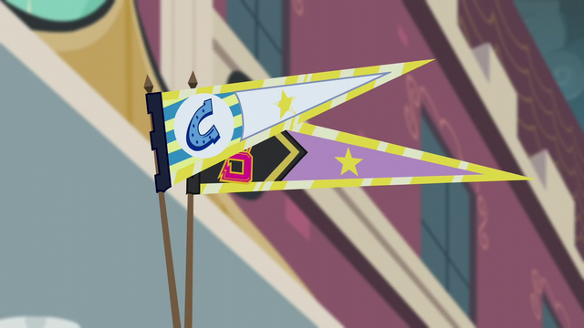 File:Canterlot High and Crystal Prep pennants EG3.png