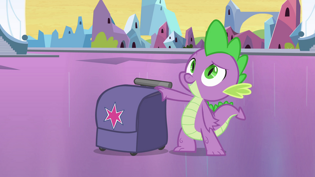 File:Spike with Twilight's bag EG.png