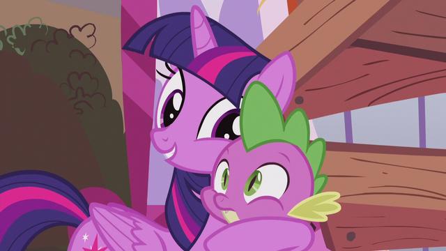 File:Twilight picks up Spike feeling hopeful S5E25.png
