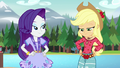 Applejack straightening her bohochic outfit EG4.png