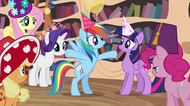 "File:Rainbow Dash excited ""whatever"" S4E04.png"