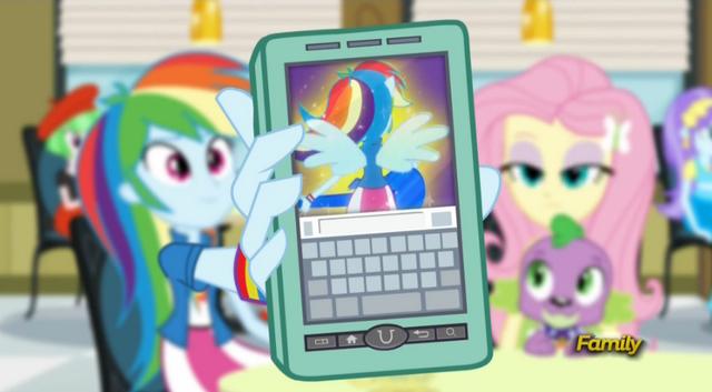 File:Rainbow Dash showing Twilight her transformation EG2.png