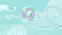 Spike stuck inside a bubble S4E25