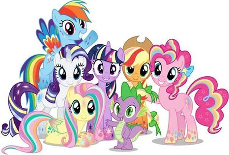 Image Fanmade Rainbow Power Mane Six And Spike Jpg My Little Pony