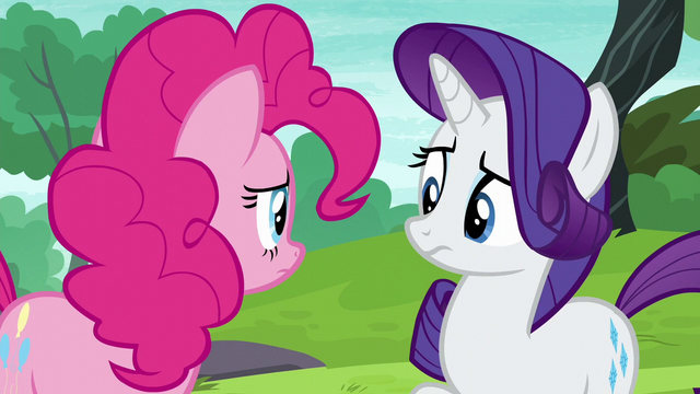 File:Pinkie and Rarity look at each other uncertain S6E3.png