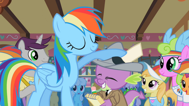 File:Rainbow Dash and her ghost writer S2E08.png