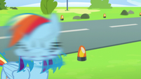 Rainbow Dash shaking her head S6E7