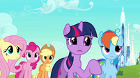 Twilight asks Peachbottom if she's the inspector S03E12