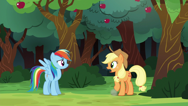 File:Applejack explains while dusting herself off S6E18.png