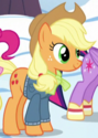 Applejack winter clothes ID S5E5