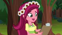 Gloriosa Daisy checking her clipboard EG4
