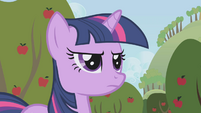 Twilight standing in Applejack's way S1E04