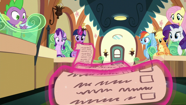 File:Twilight's long friendship lesson checklist S6E1.png