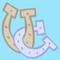 Two interlocking horseshoes cutie mark CROP