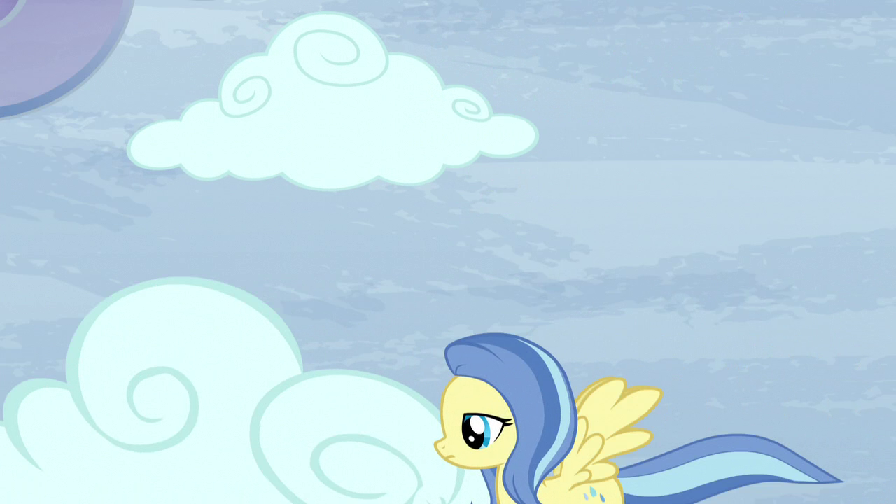 Image  Sunshower moving a cloud S5E5png  My Little Pony Friendship is Magi # Sunshower Mlp_175524
