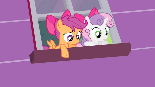 File:Sweetie and Scootaloo sees Apple Bloom fall S4E17.png