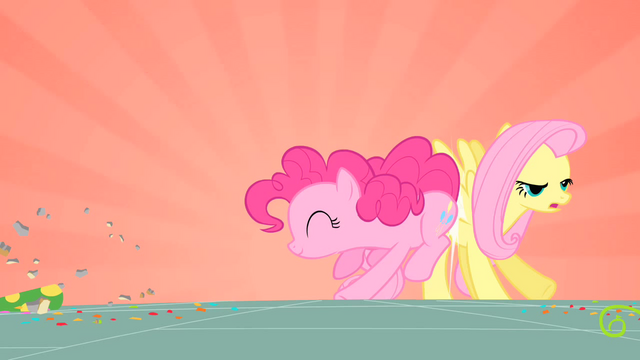 File:Pinkie Pie bumping Fluttershy S01E25.png