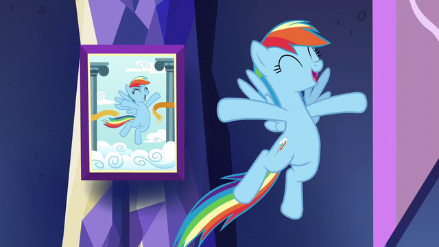 File:Rainbow mimics photo pose S5E3.png