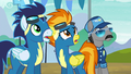 Soarin, Spitfire, and Whiplash surprised S6E7.png