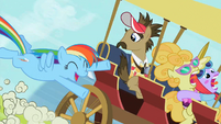 Rainbow Dash Chasing Carriage S2E08