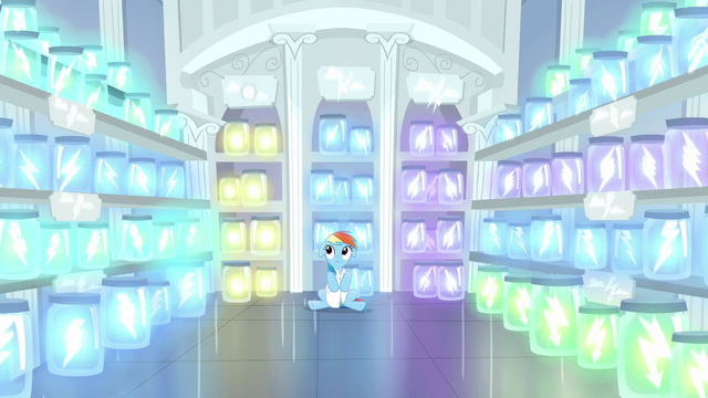 File:Rainbow in a room full of jars of lightning S5E5.png