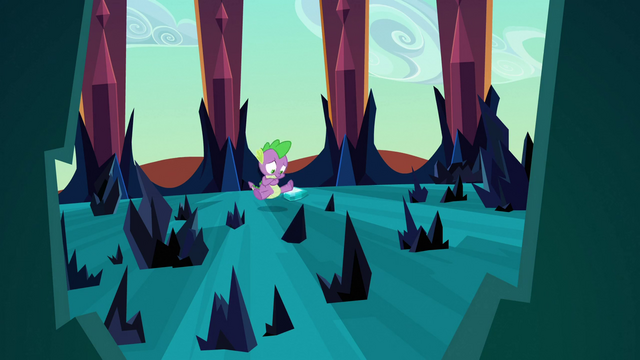 File:Spike backing away from crystals S3E2.png