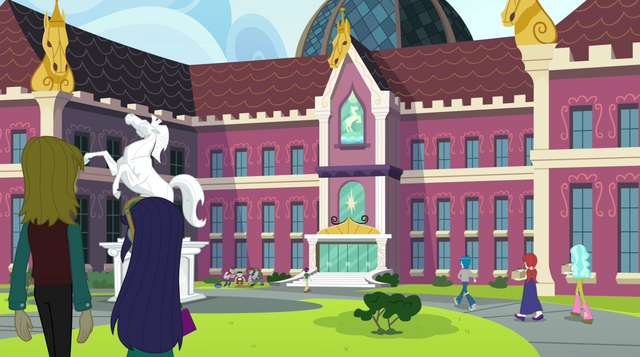 File:Students approaching Canterlot High School EG2.png
