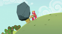 Giant boulder in Big Mac's apple cart S6E15