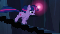 Twilight racing down the stairs S3E2