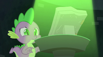 Spike sees the book S4E23