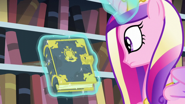 File:Cadance looks at the tome S6E2.png