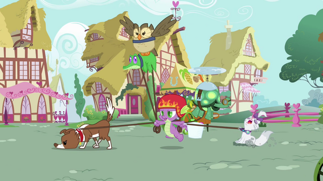 File:Spike bringing all the pets along S3E11.png