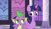 "Twilight and Spike ""way to take charge"" S4E01"