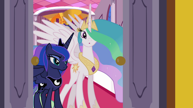 File:Celestia telling Twilight to go S3E01.png