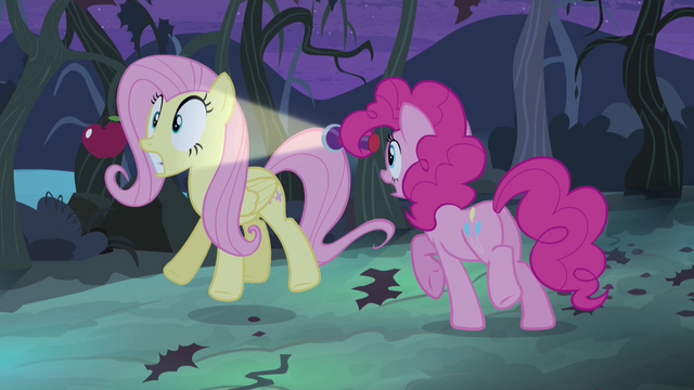 File:Pinkie Pie shines light at Fluttershy S4E07.png
