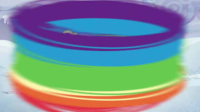 File:Rainbow circles around the ponies S5E5.png