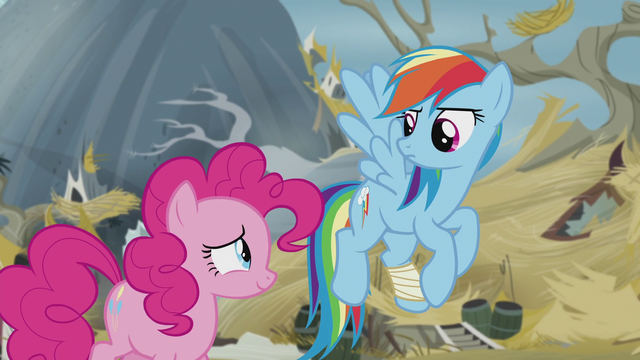File:Rainbow looks at Pinkie like she's weird S5E8.png