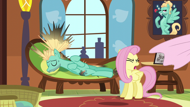 File:Fluttershy pulls sheets off of Zephyr S6E11.png