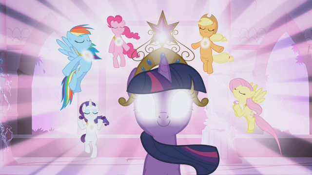 File:Main ponies activated the Elements of Harmony S01E02.png