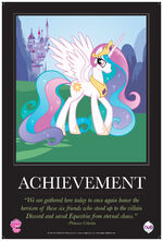"Celestia ""Achievement"" poster from ComicCon 2012"