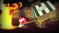 Apple Bloom cut off by flames S4E17