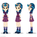 Friendship Games Indigo Zap turnaround art