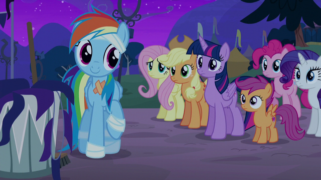 File:Rainbow's friends curious about her good mood S6E7.png