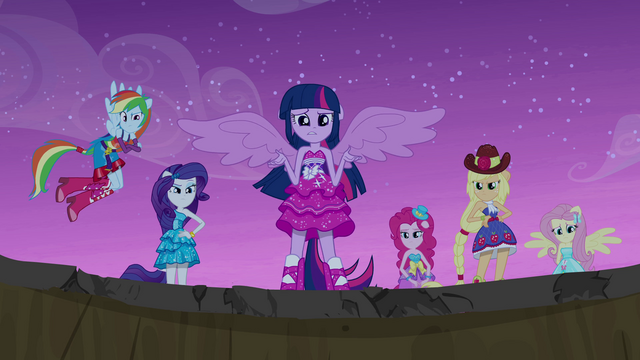 "File:Twilight ""doesn't just exist in Equestria"" EG.png"